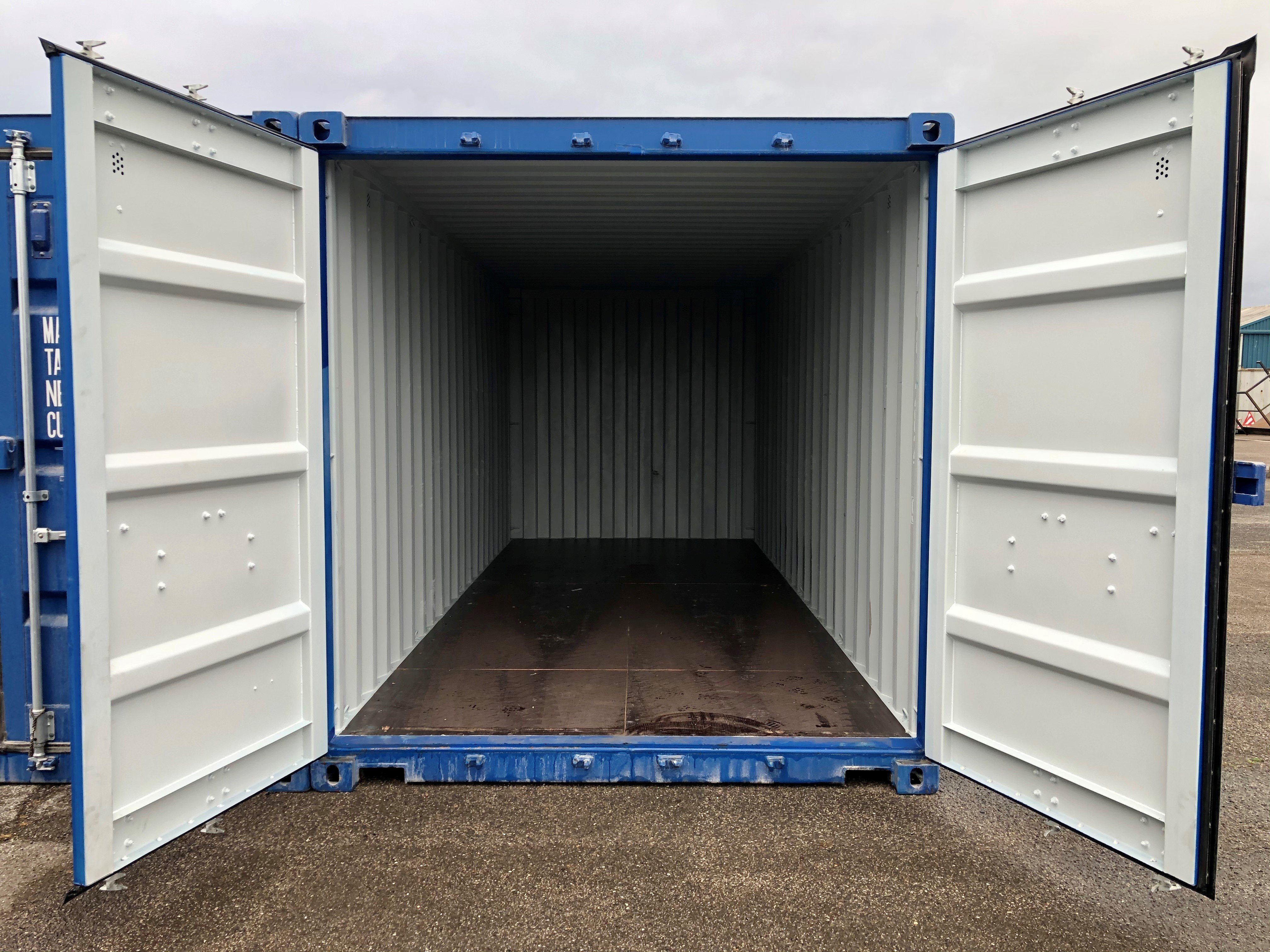 Inside Blue Storage Container