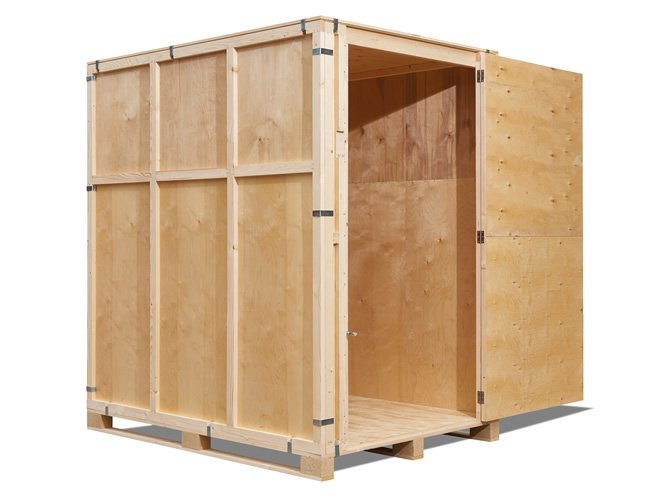 Wooden 250 ft3 Self Storage Crate Box